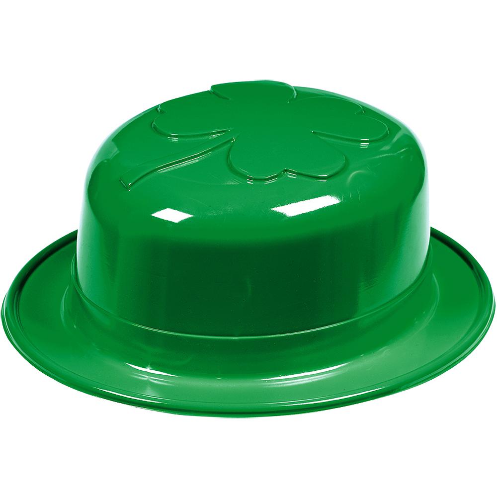 Plastic Shamrock Derby Hat Image #1