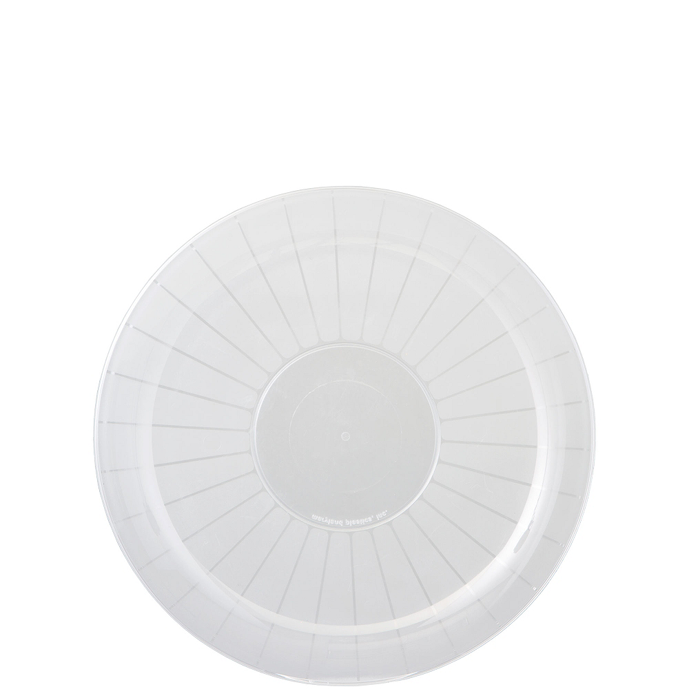 CLEAR Plastic Frosted Platter Image #1