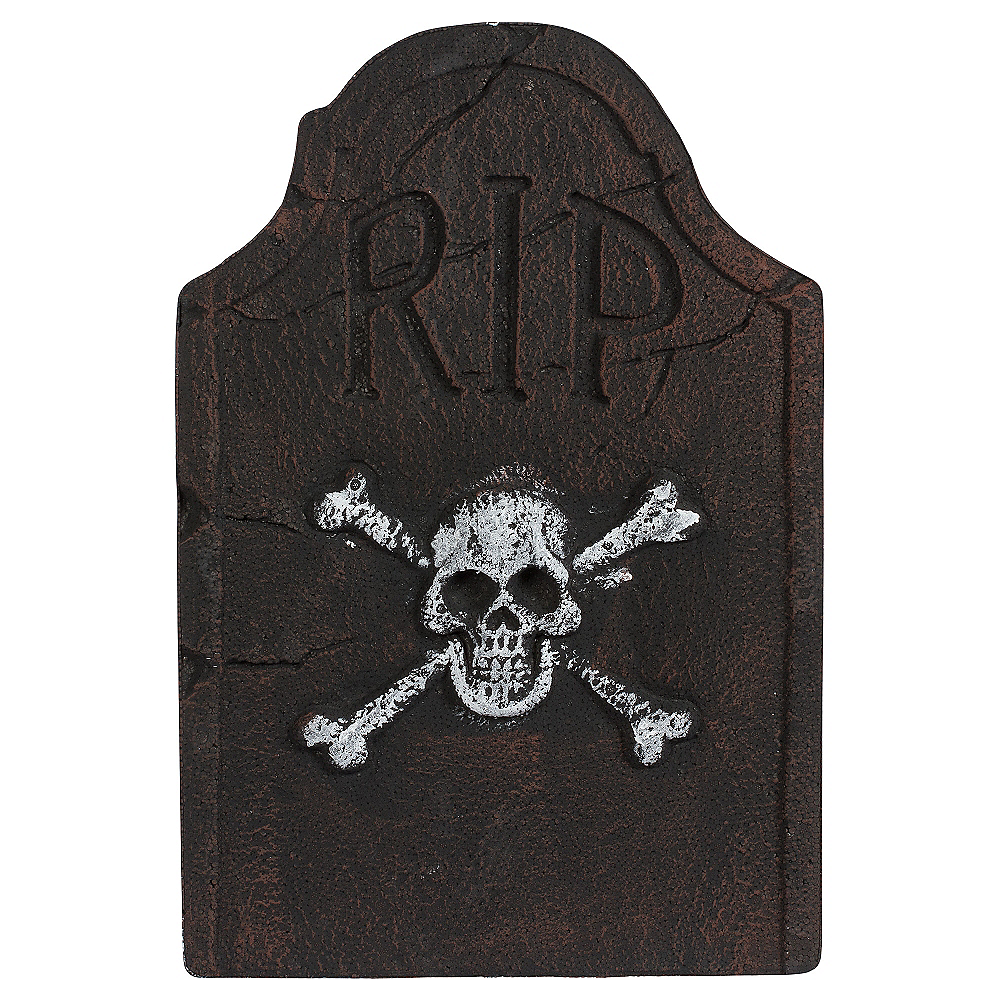 Skull & Crossbones Tombstone Decoration Image #2