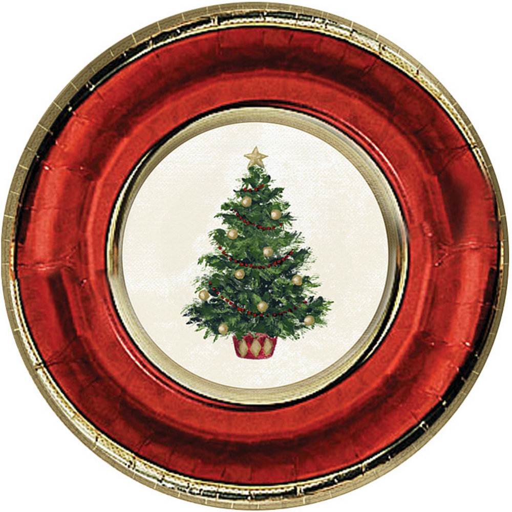 Classic Christmas Tree Dinner Plates 8ct Image #1