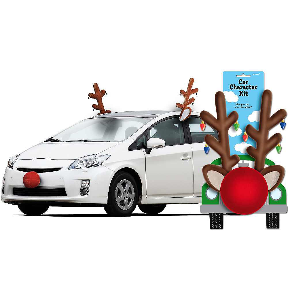 Reindeer Car Kit - Reindeer Car Antlers | Party City