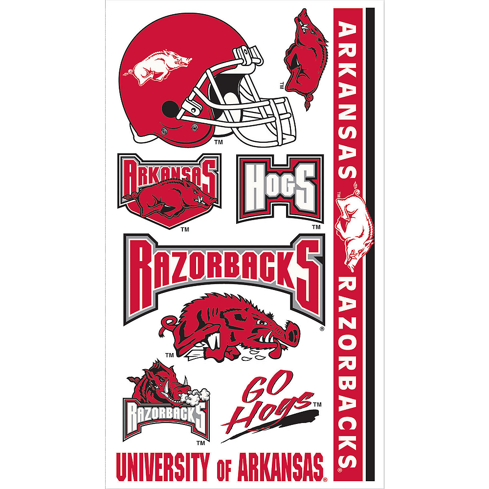 Arkansas Razorbacks Tattoos 10ct Image #1