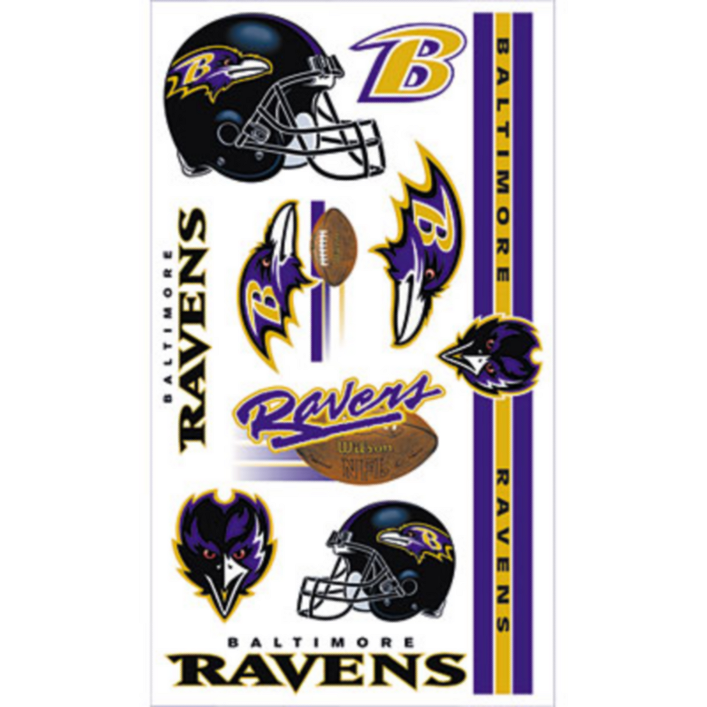 Baltimore Ravens Tattoos 10ct Image #1