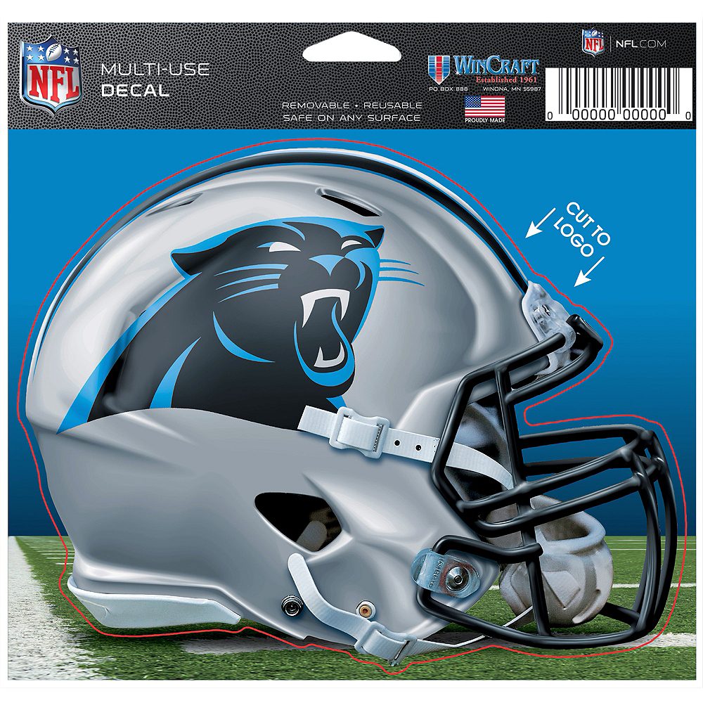 Carolina Panthers Helmet Decal Image #2