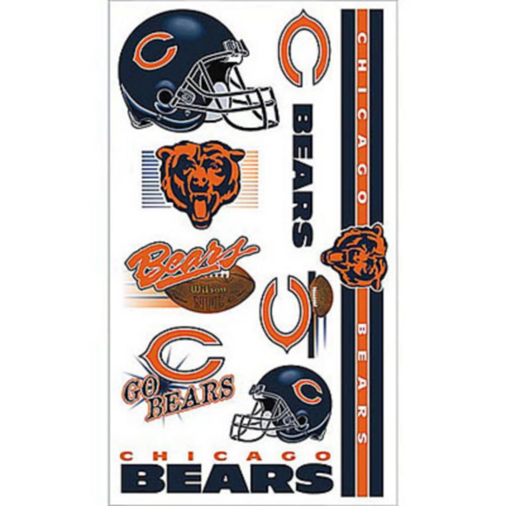 Chicago Bears Tattoos 10ct Image #1