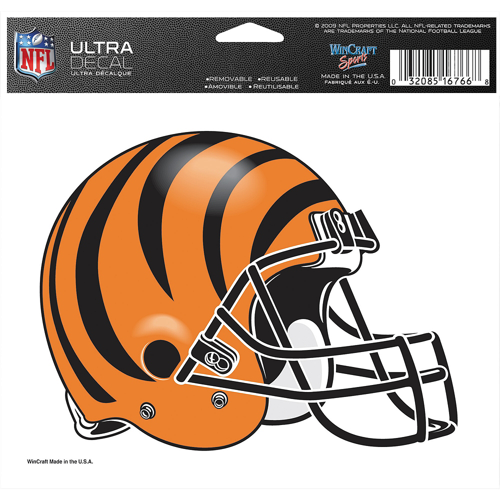 Nav Item for Cincinnati Bengals Helmet Decal Image #2