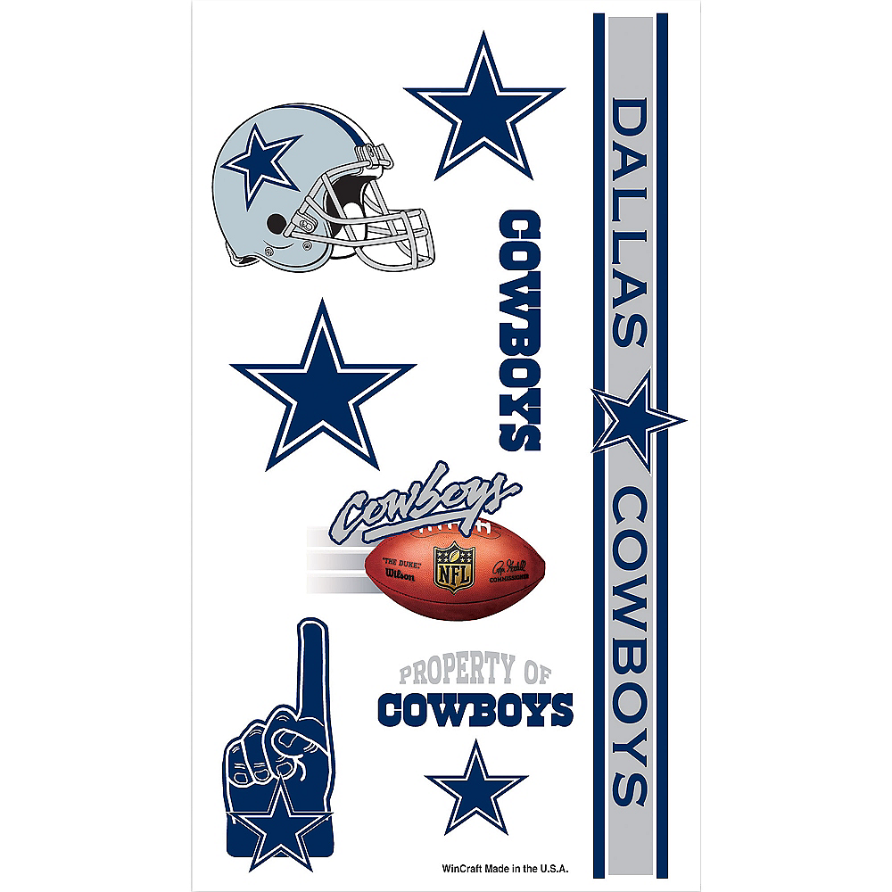 Dallas Cowboys Tattoos 7ct Image #1