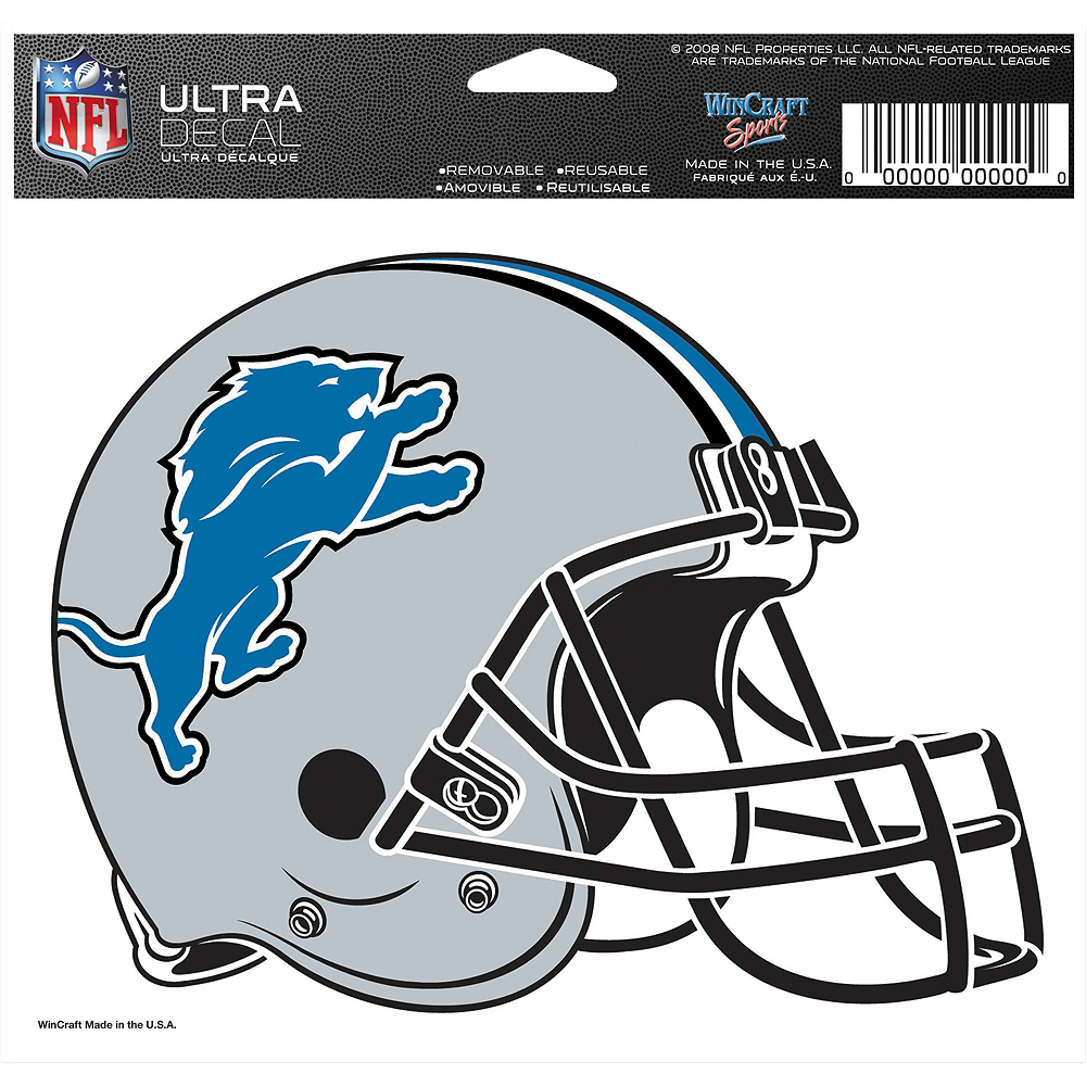 Detroit Lions Helmet Decal Image #2