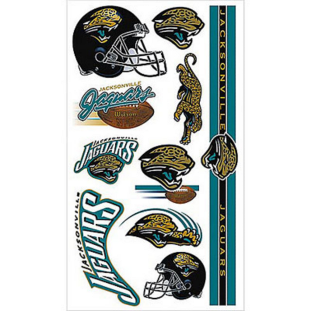 Nav Item for Jacksonville Jaguars Tattoos 10ct Image #1