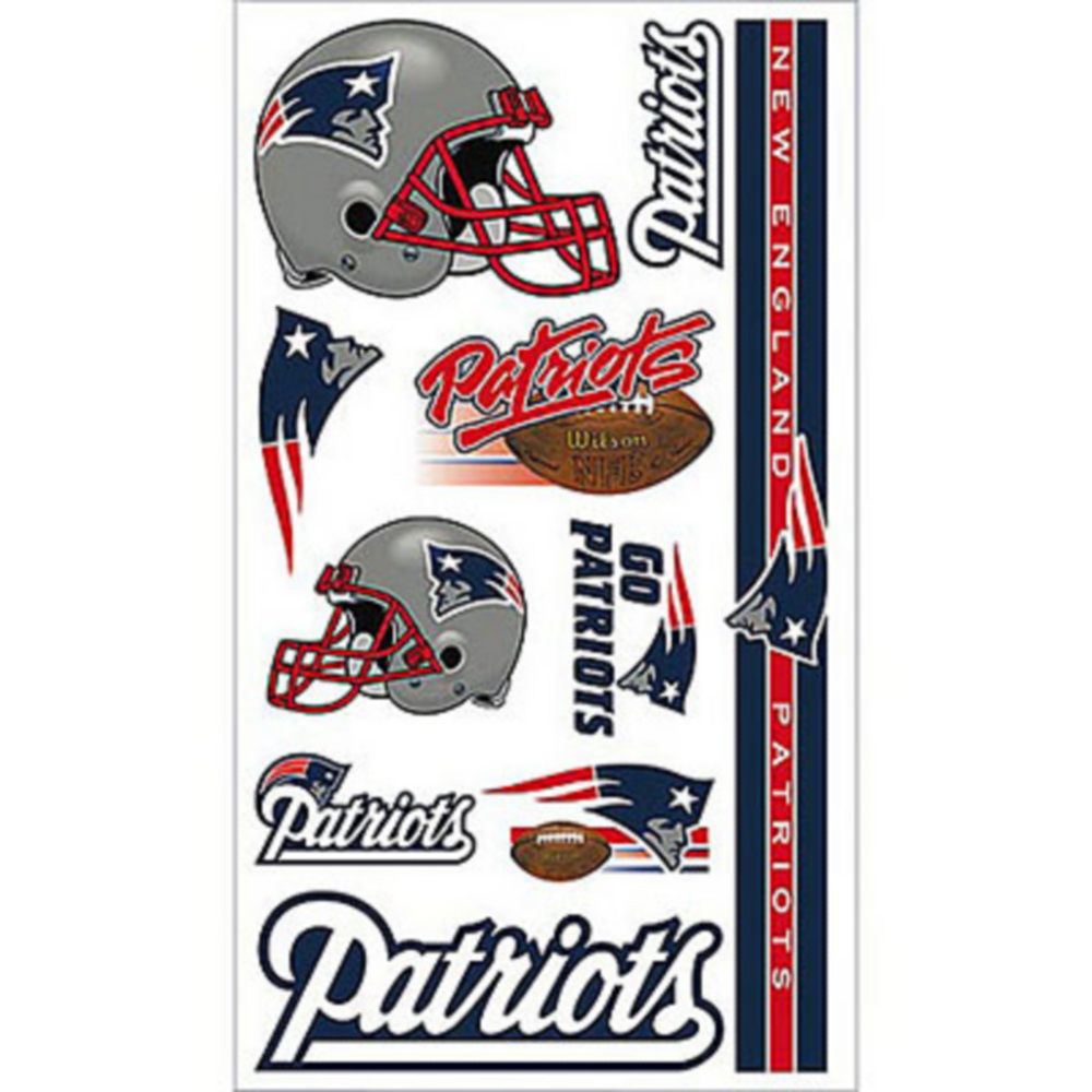 New England Patriots Tattoos 10ct Image #1