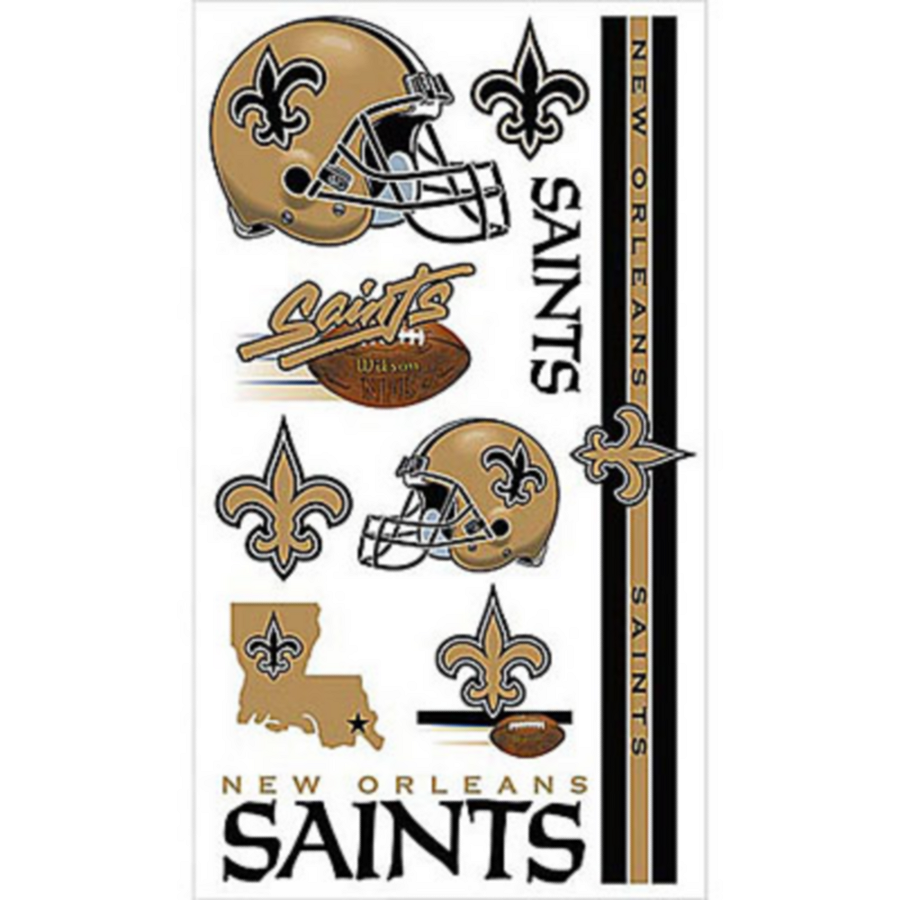 New Orleans Saints Tattoos 10ct Image #1