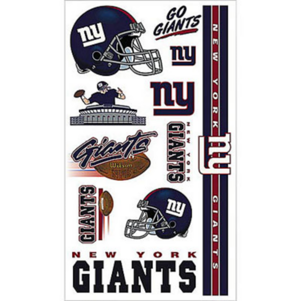 New York Giants Tattoos 7ct Party City