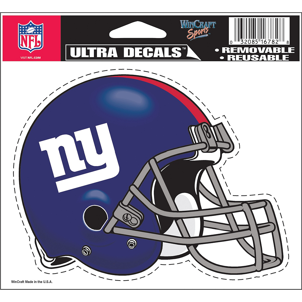 New York Giants Helmet Decal Image #2