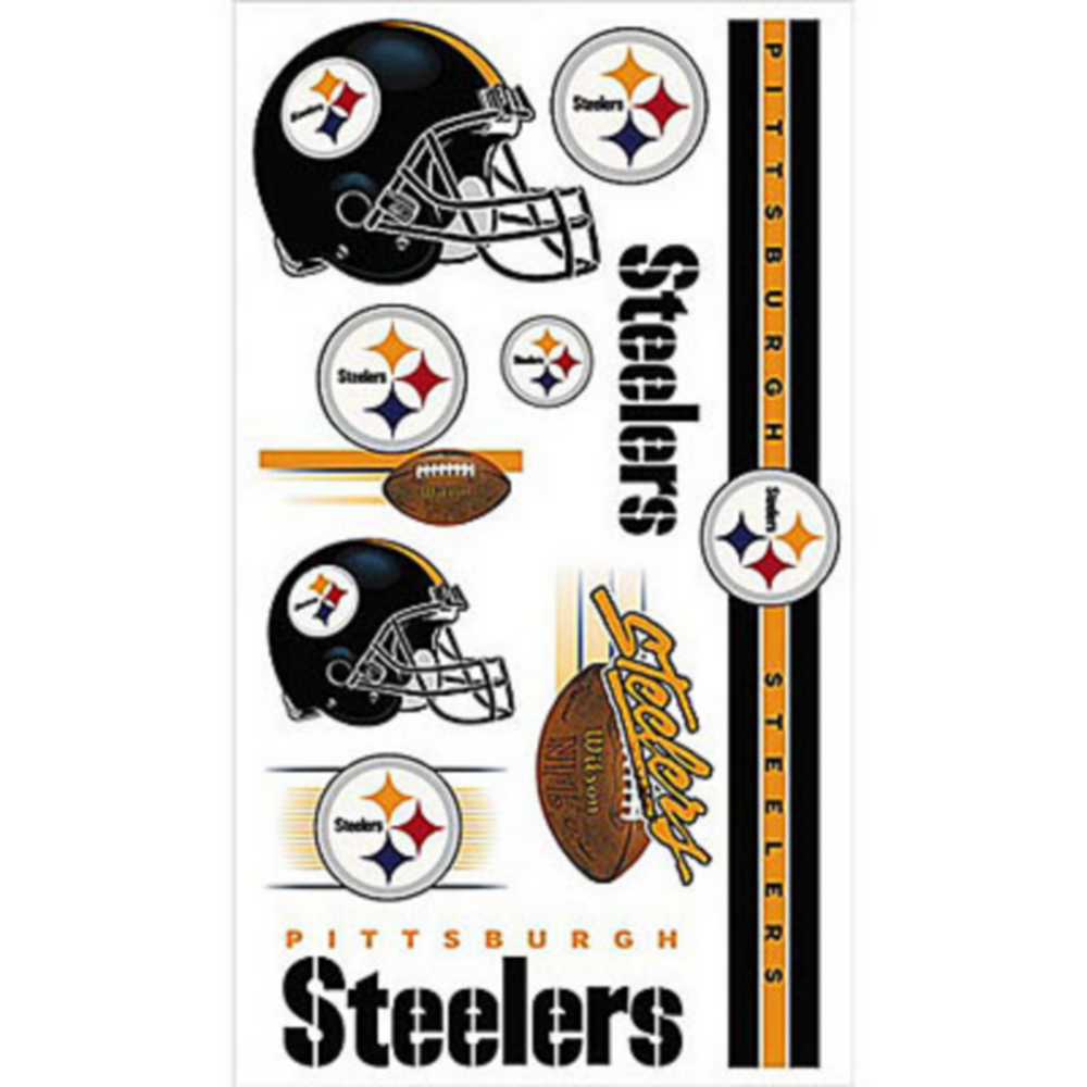 Nav Item for Pittsburgh Steelers Tattoos 10ct Image #1
