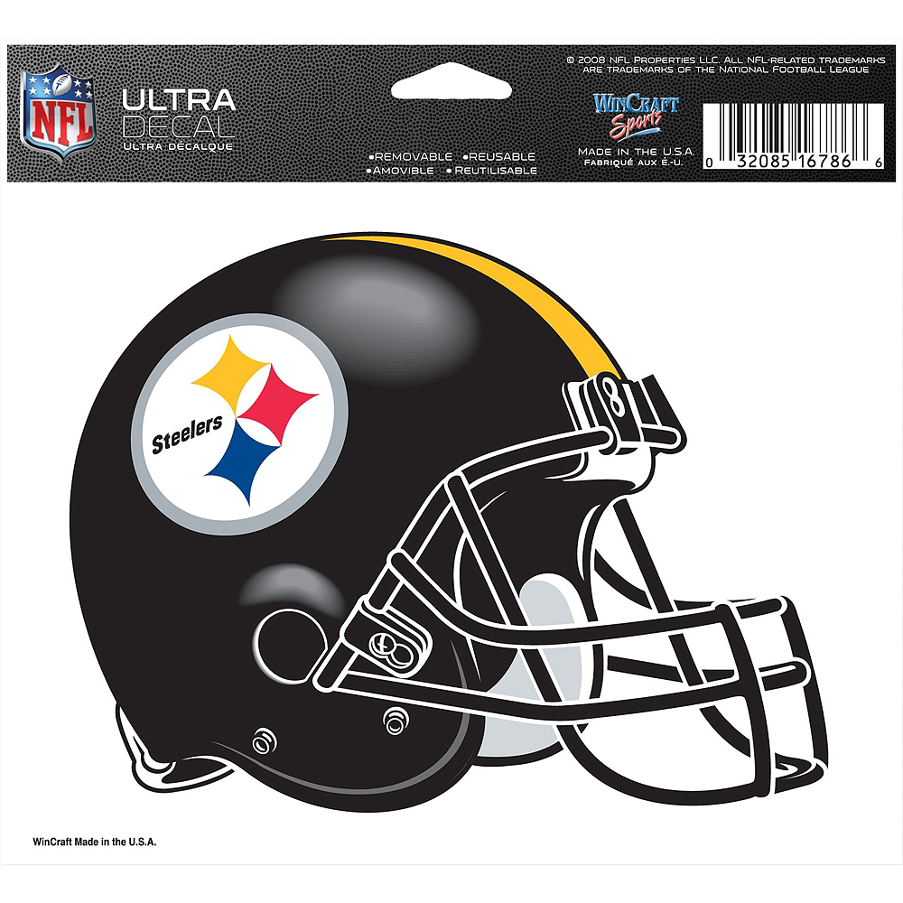 Pittsburgh Steelers Helmet Decal Image #2