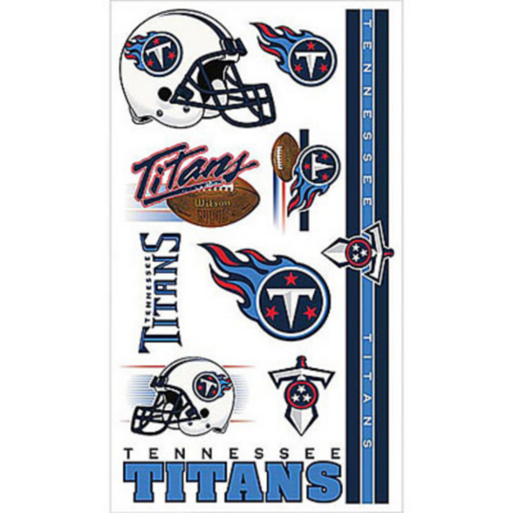Tennessee Titans Tattoos 10ct Image #1