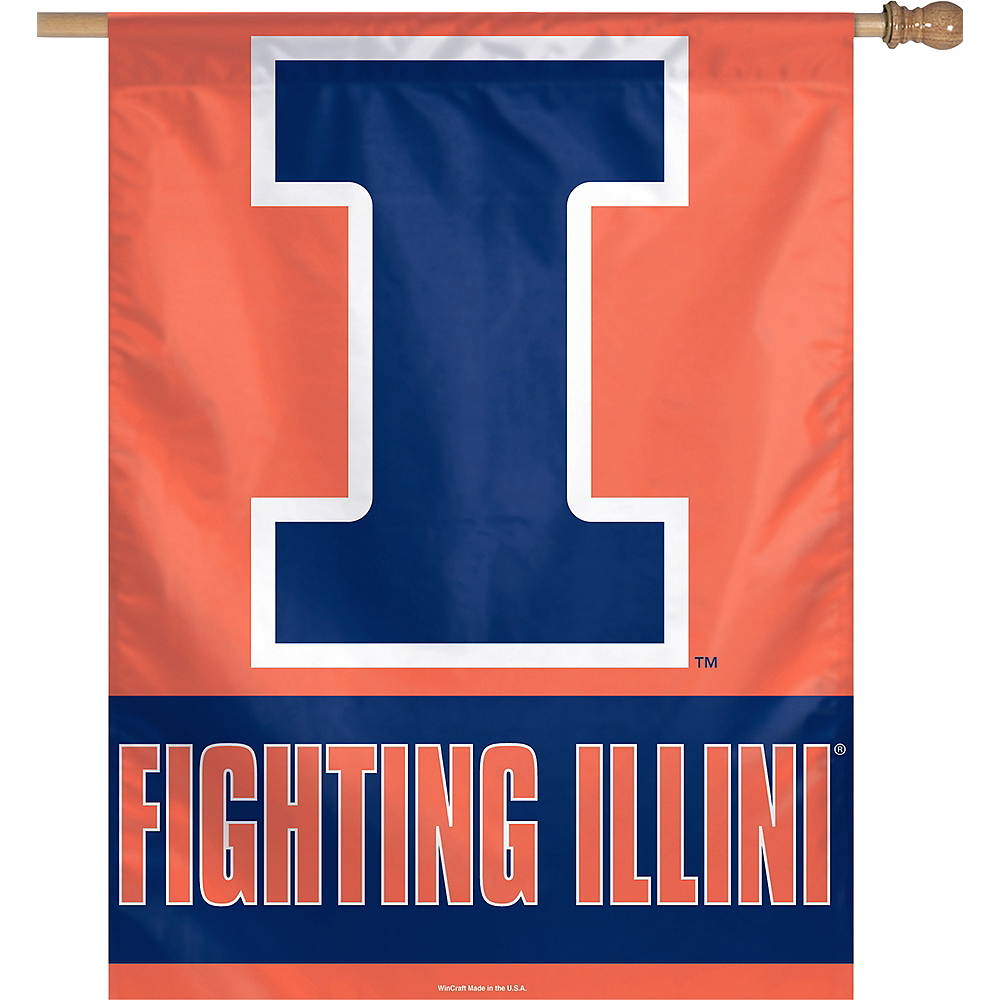 Illinois Fighting Illini Banner Flag Image #1