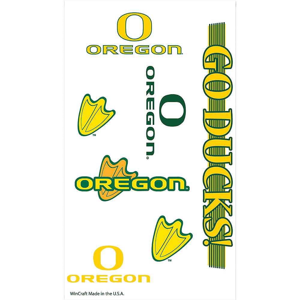 Oregon Ducks Tattoos 7ct Image #1
