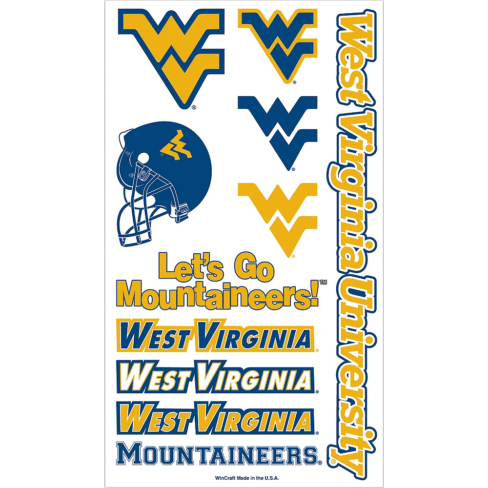Nav Item for West Virginia Mountaineers Tattoos 10ct Image #1