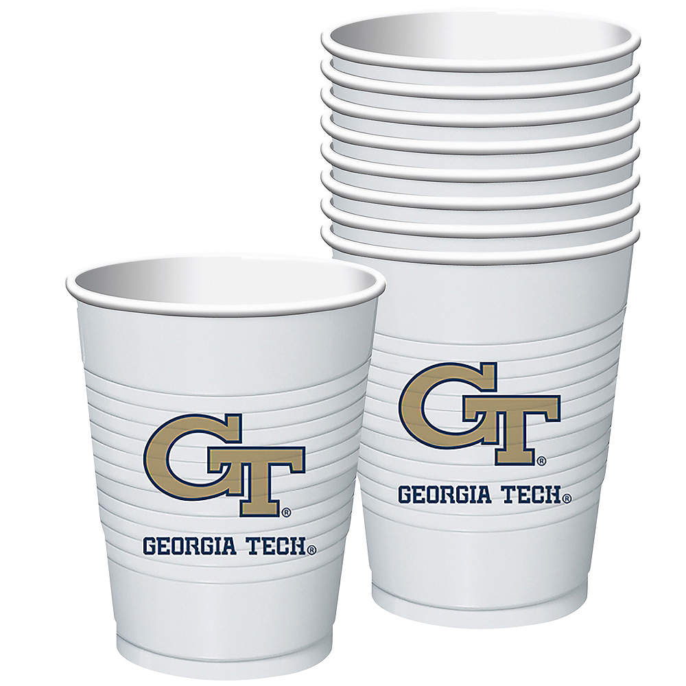 Georgia Tech Yellow Jackets Plastic Cups 8ct Image #1