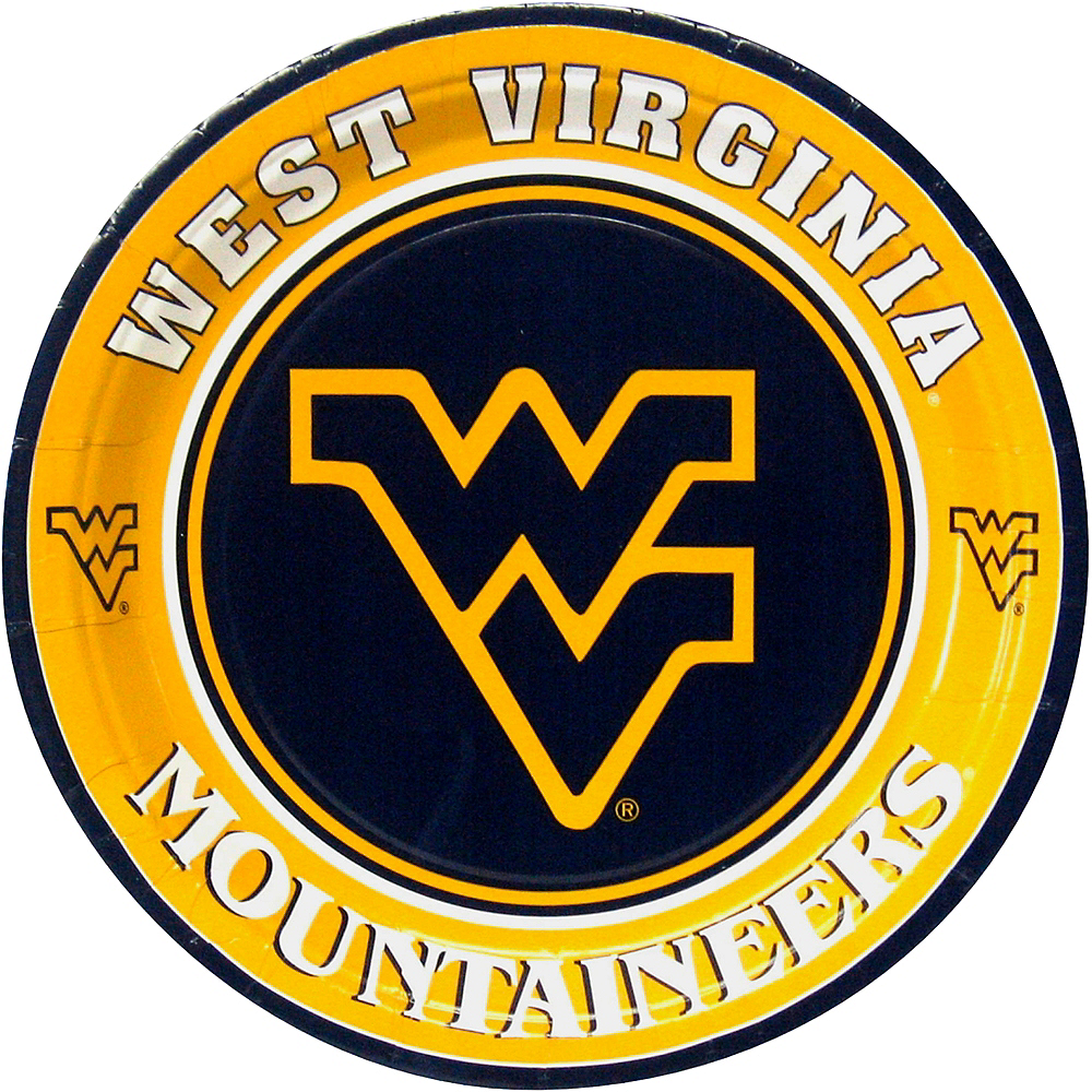 West Virginia Mountaineers Lunch Plates 8ct Image #1
