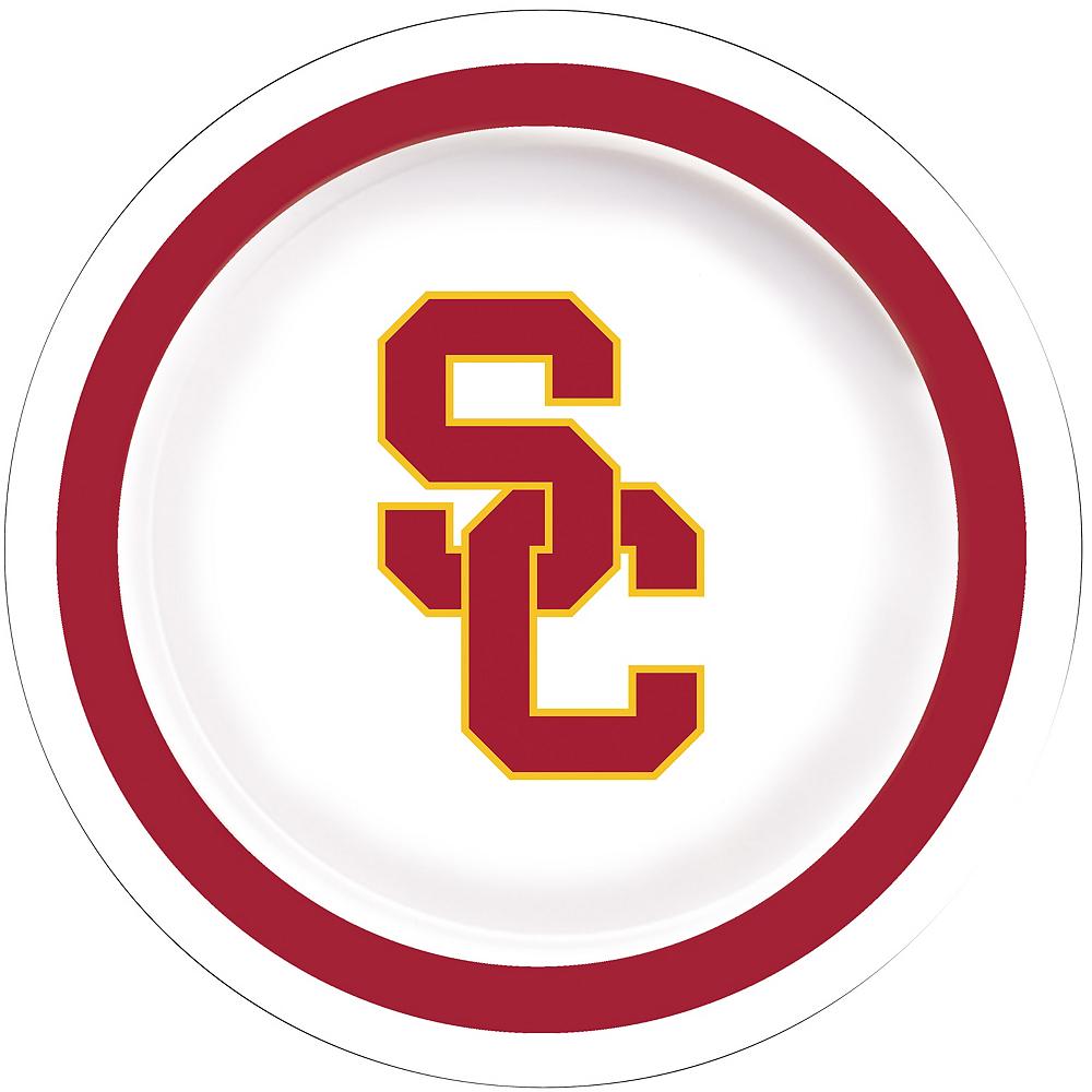 USC Trojans Lunch Plates 10ct Image #1