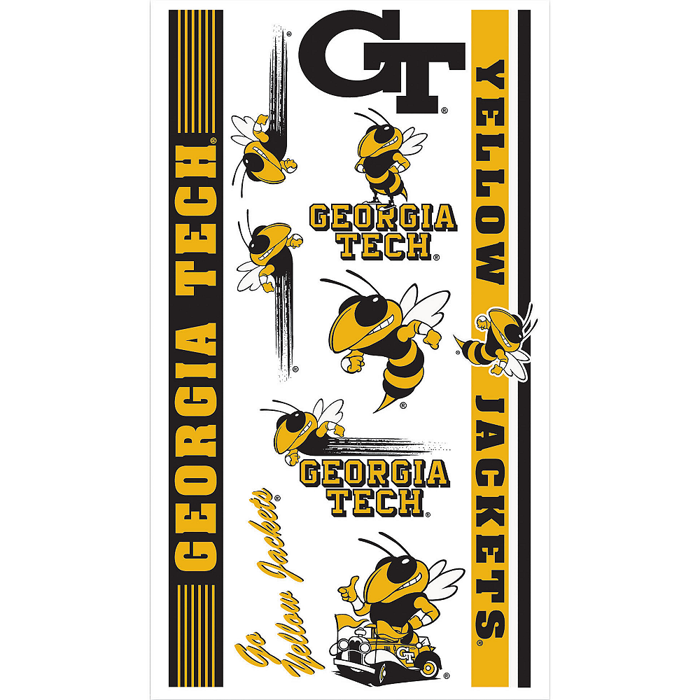 Georgia Tech Yellow Jackets Tattoos 10ct Image #1