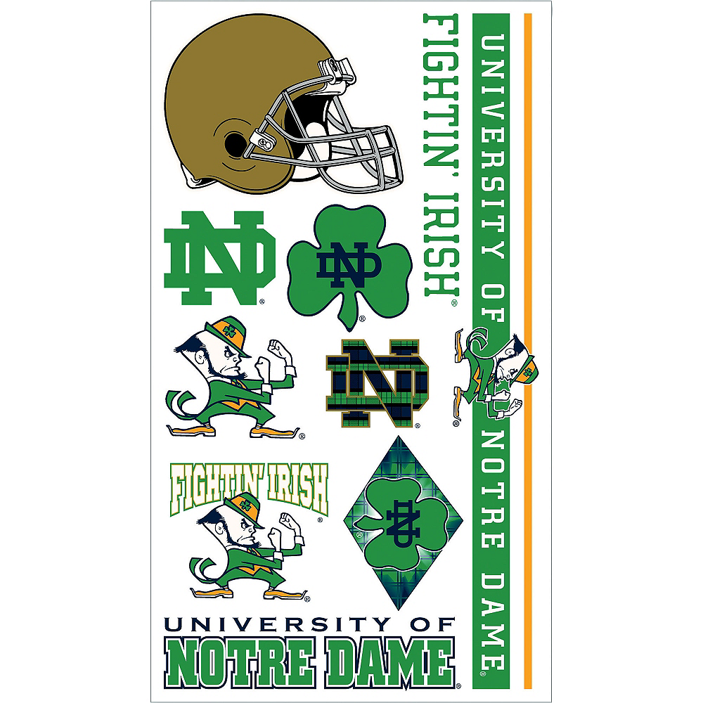 Notre Dame Fighting Irish Tattoos 10ct Image #1