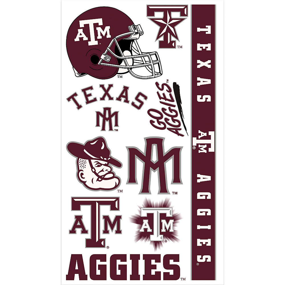 Nav Item for Texas A&M Aggies Tattoos 10ct Image #1