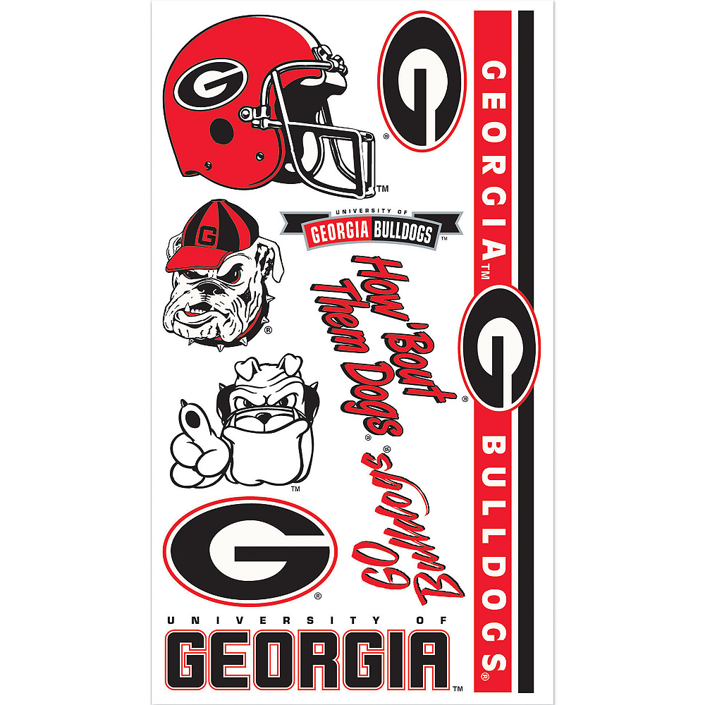Georgia Bulldogs Tattoos 10ct Image #1