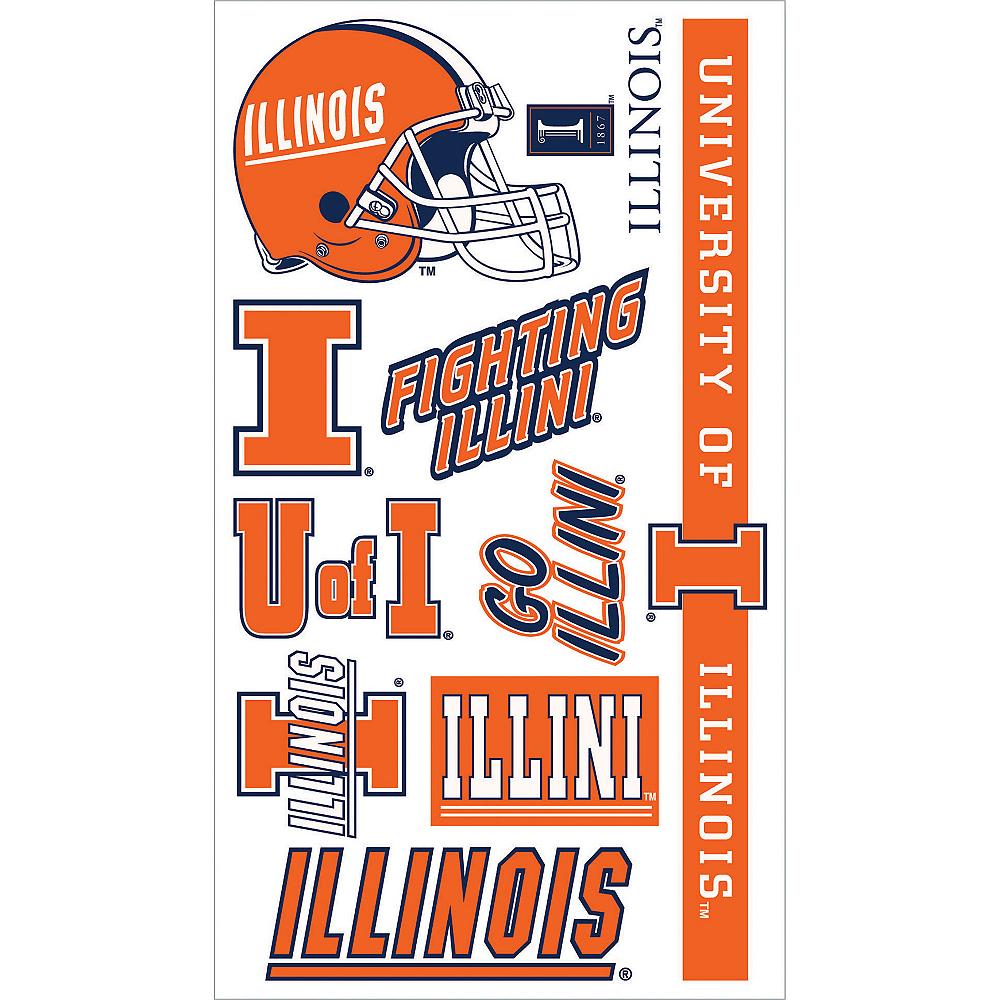 Illinois Fighting Illini Tattoos 10ct Image #1
