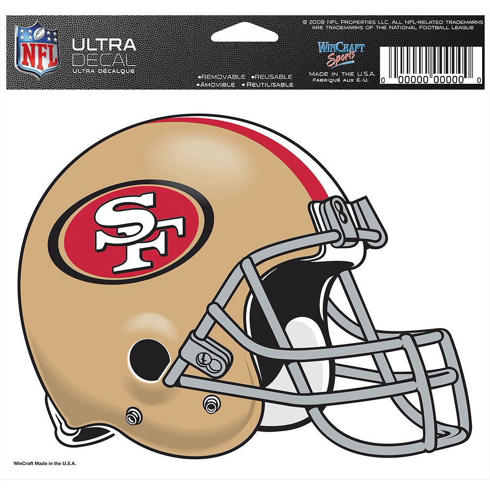 San Francisco 49ers Helmet Decal Image #2