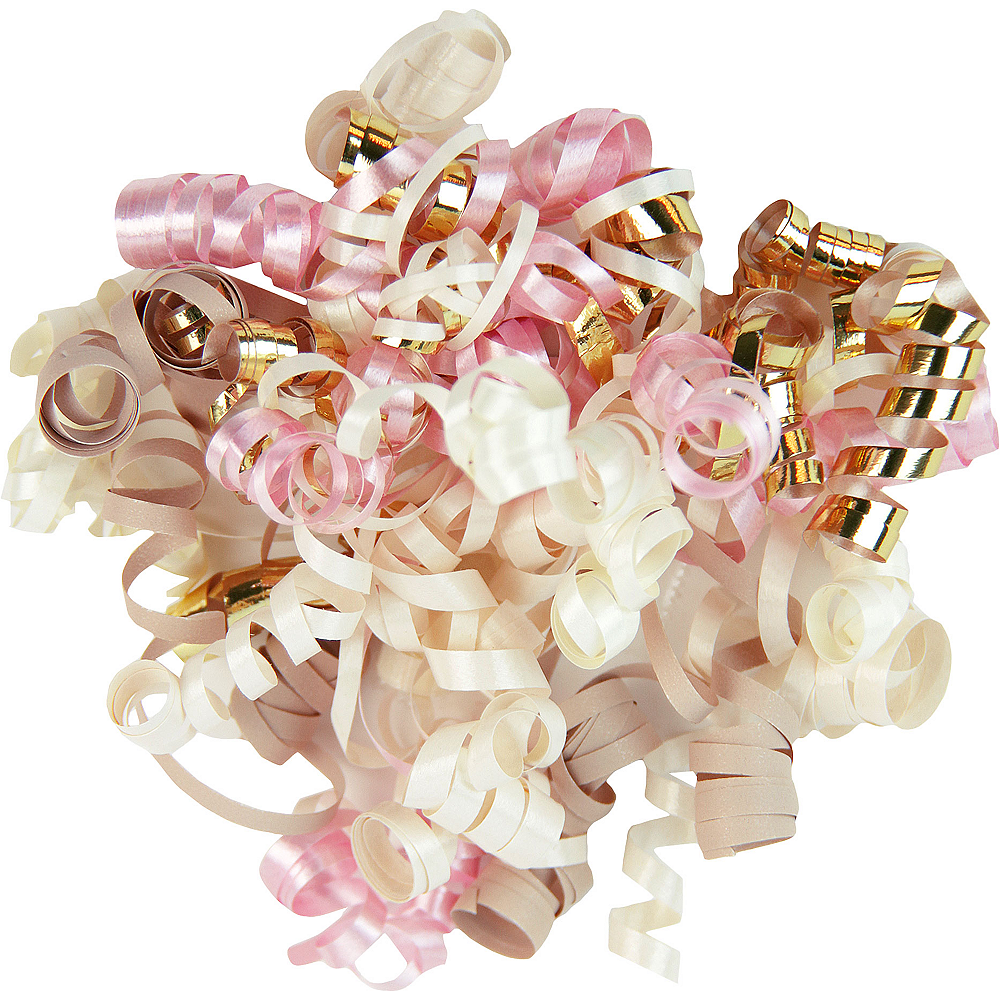 Gold/Pink/Ivory/Beige Curly Bow Image #1