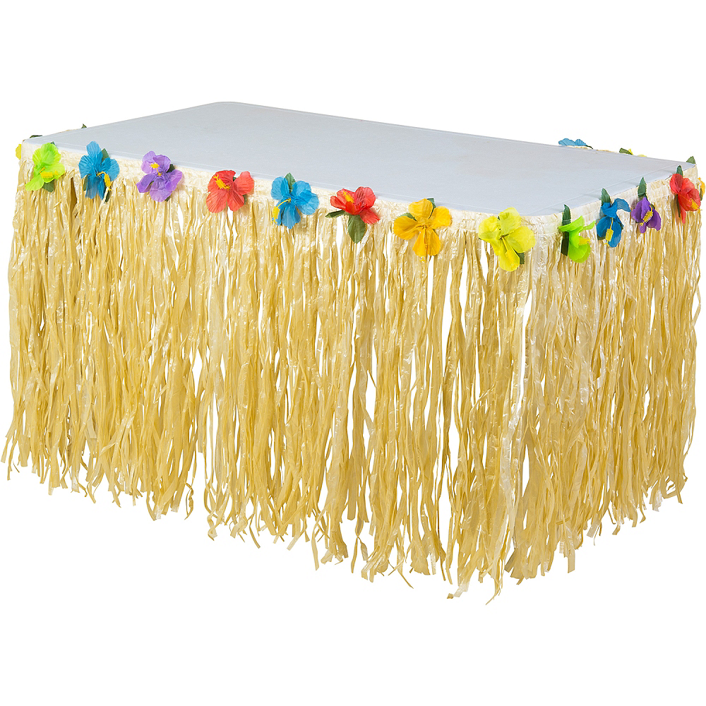 Luau Nylon Table Skirt Image #1