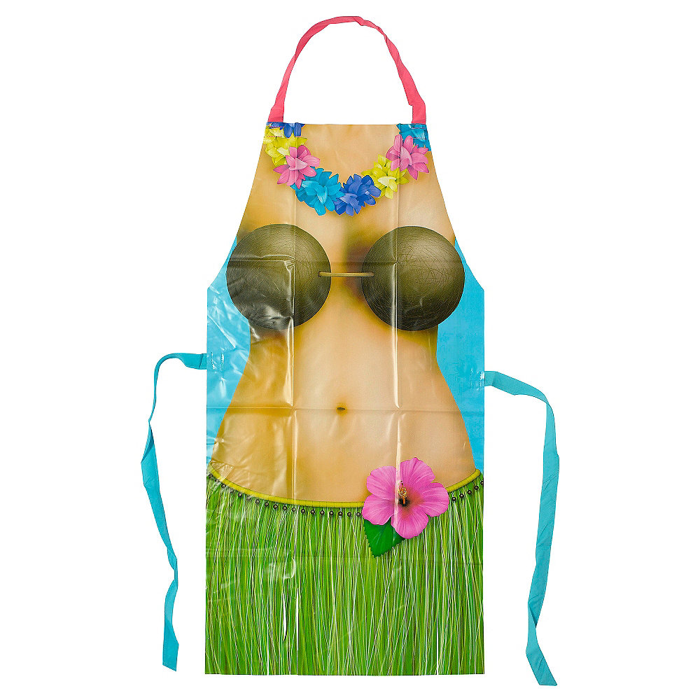 16285994afaa3 Hula Girl Apron 36 1/2in | Party City