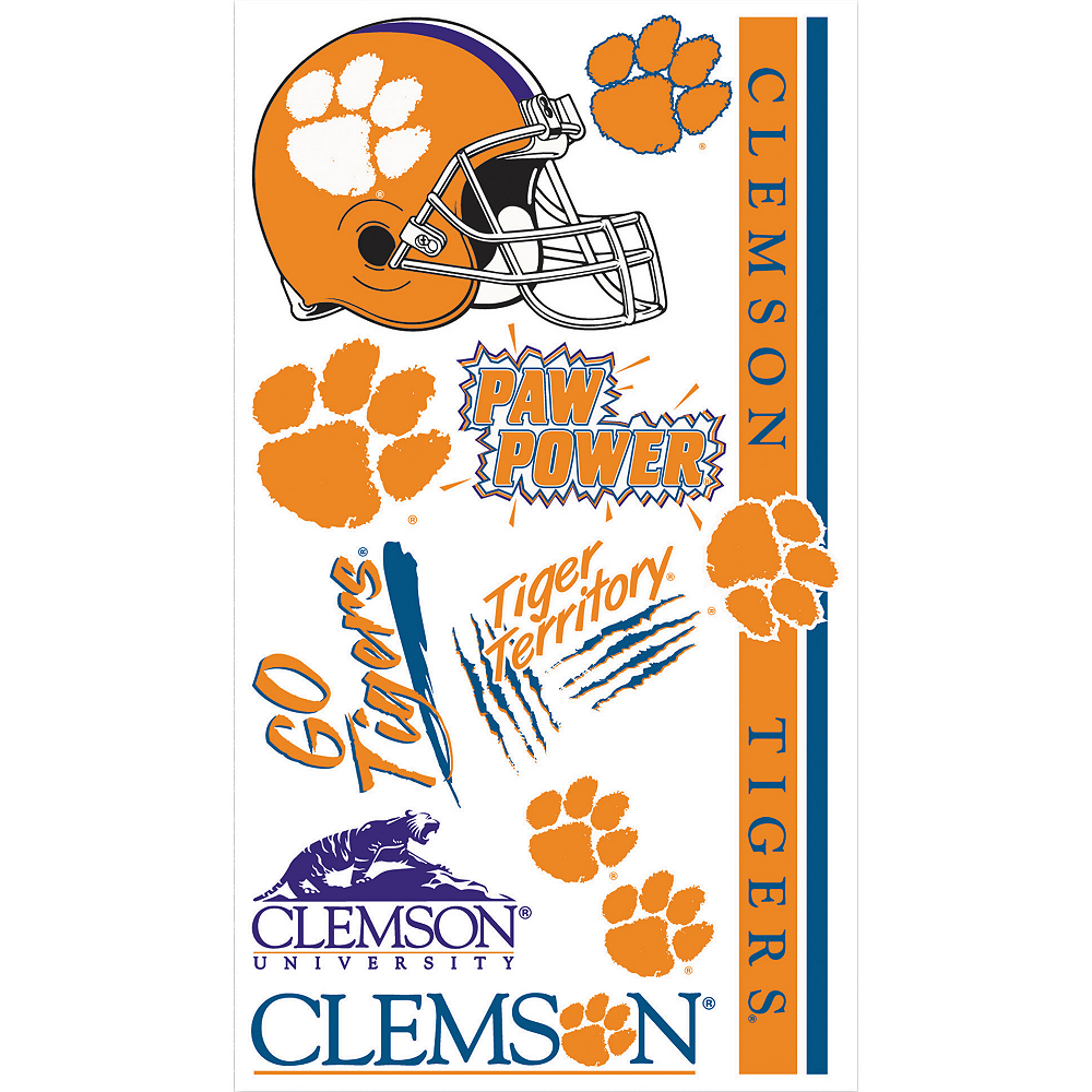 Clemson Tigers Tattoos 10ct Image #1