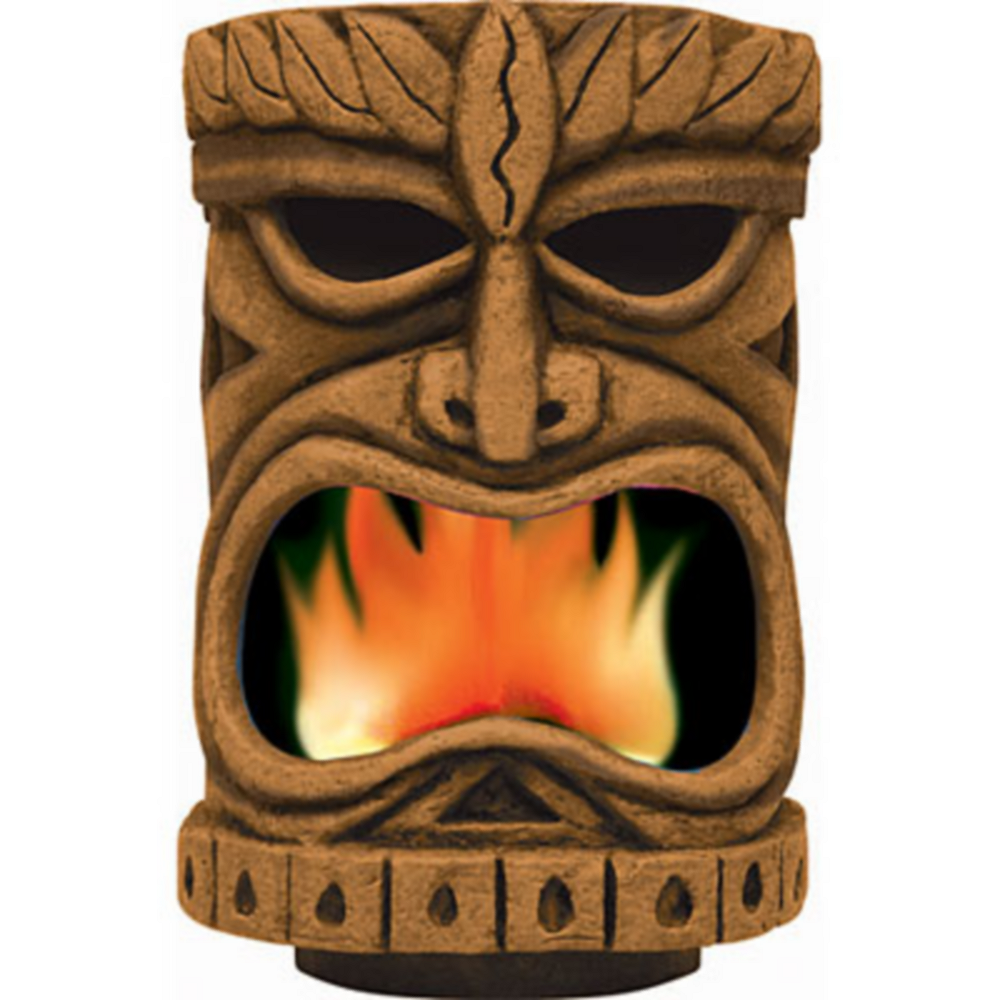Nav Item for Flaming Tiki Head Decoration Image #1