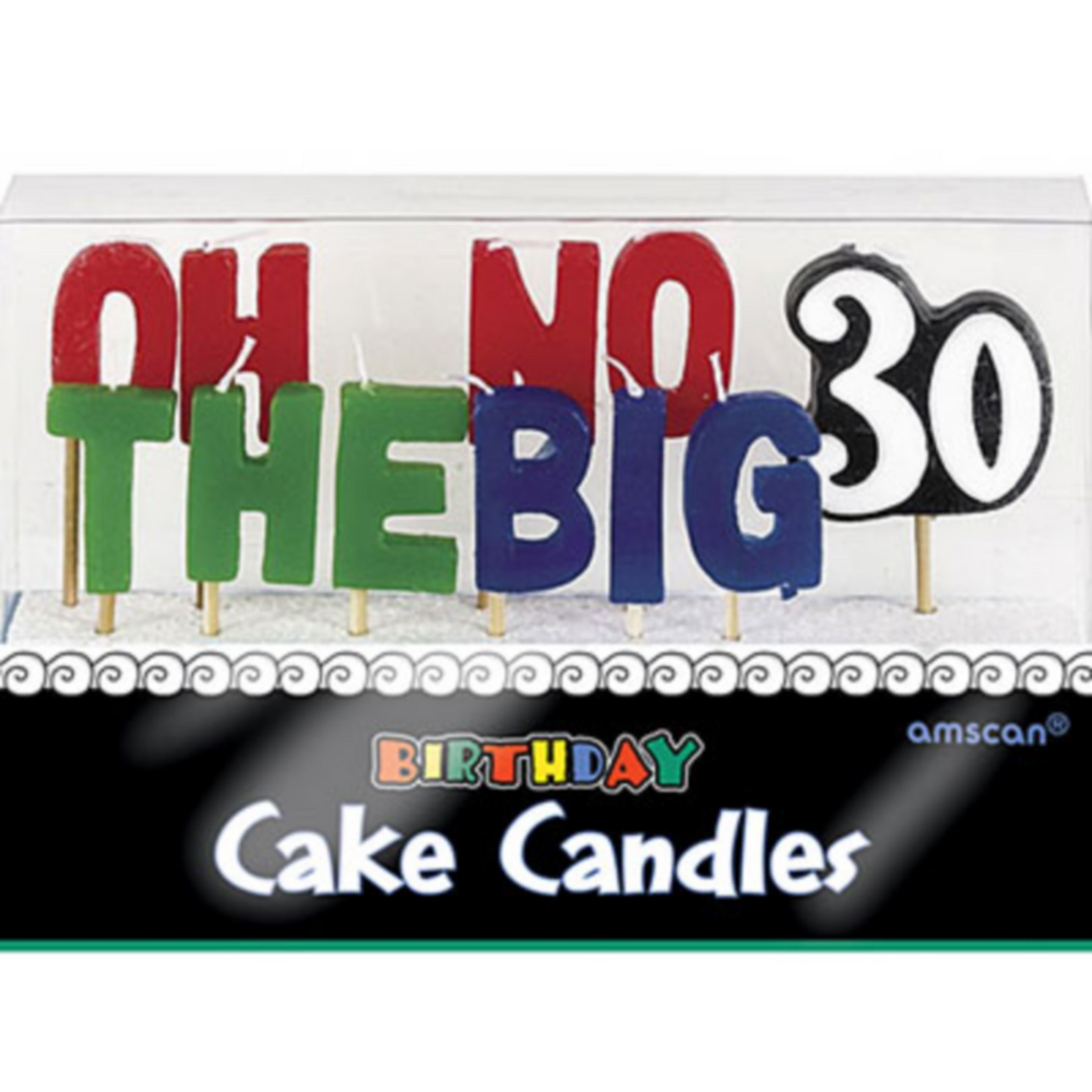 Oh No The Big 30 Birthday Toothpick Candles 11ct Image 1