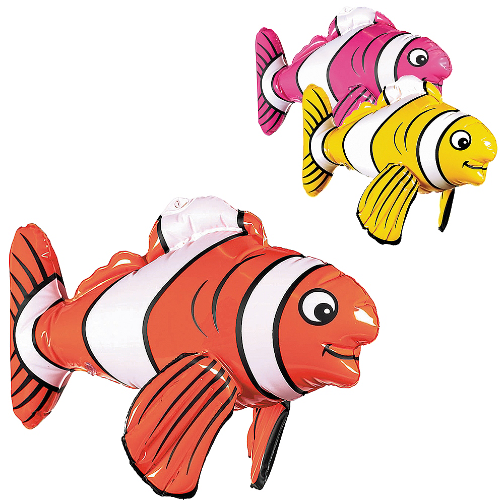 Inflatable Striped Fish Image #1