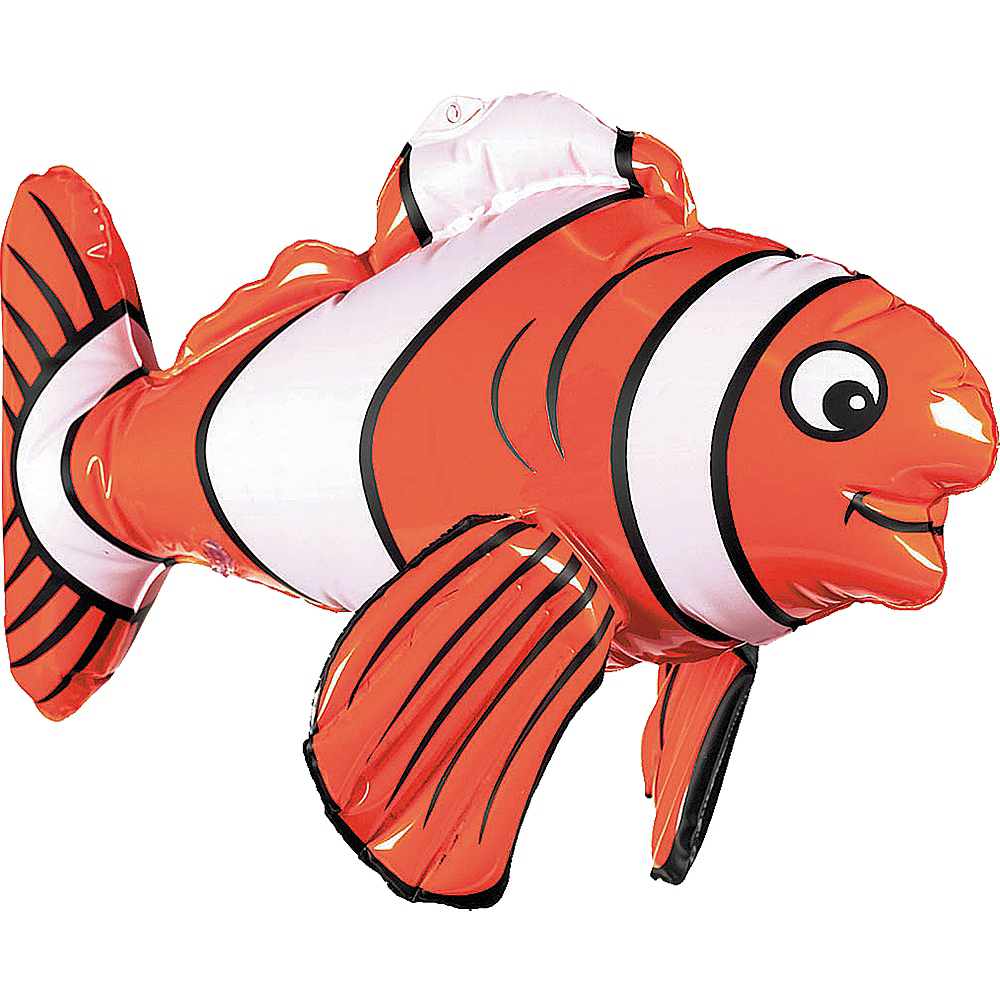 Inflatable Striped Fish Image #2