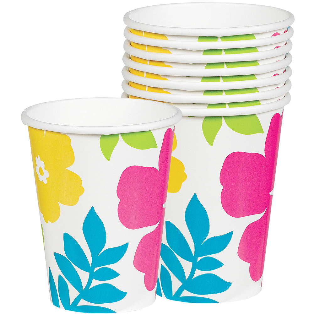 Hibiscus White Cups 25ct Image #1