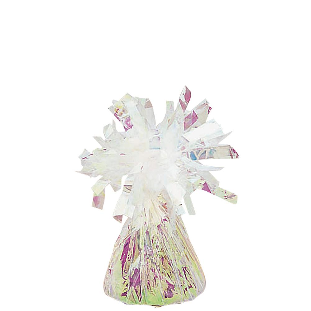 Iridescent Foil Balloon Weight 6oz Image #1