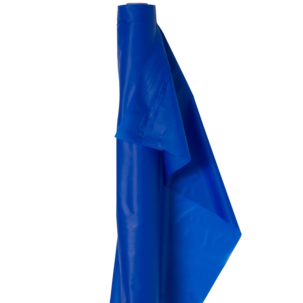 Extra-Long Royal Blue Plastic Table Cover Roll Image #1