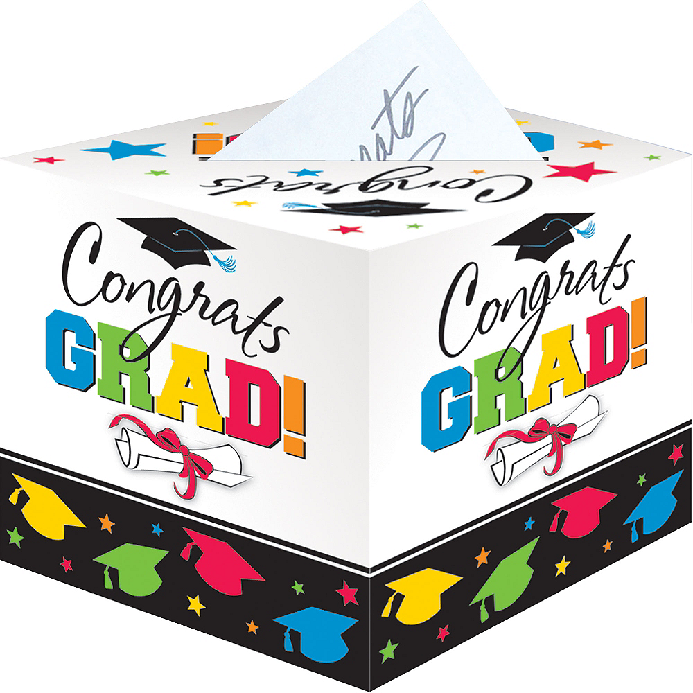 Colorful Graduation Card Holder Box Image #1