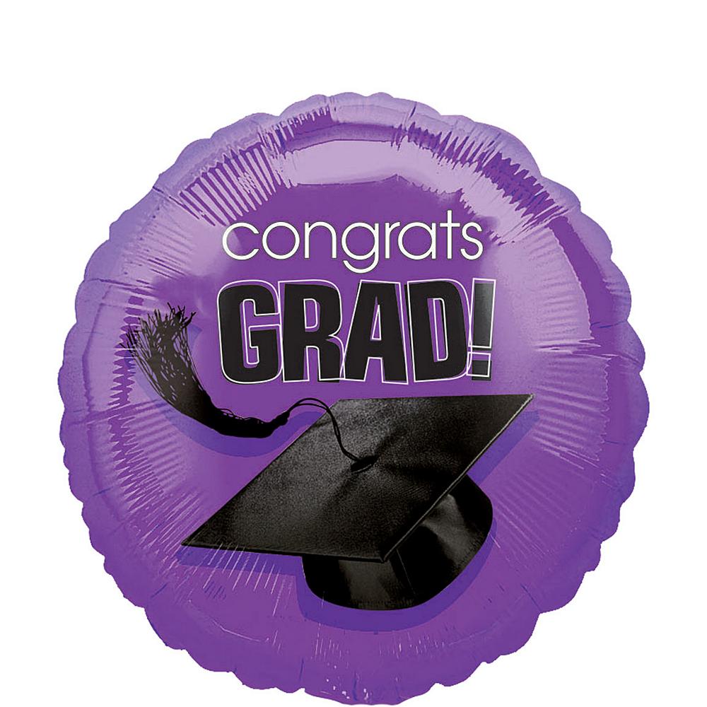 Purple Graduation Balloon - Congrats Grad Image #1