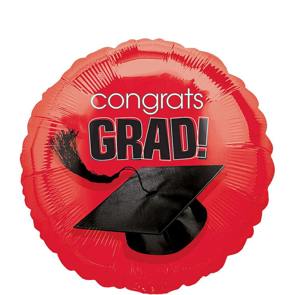 Red Graduation Balloon - Congrats Grad Image #1