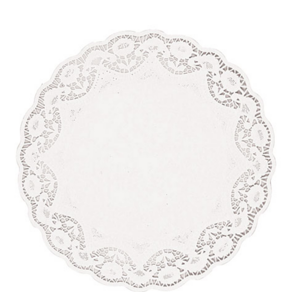 White Round Paper Doilies 8ct Image #1
