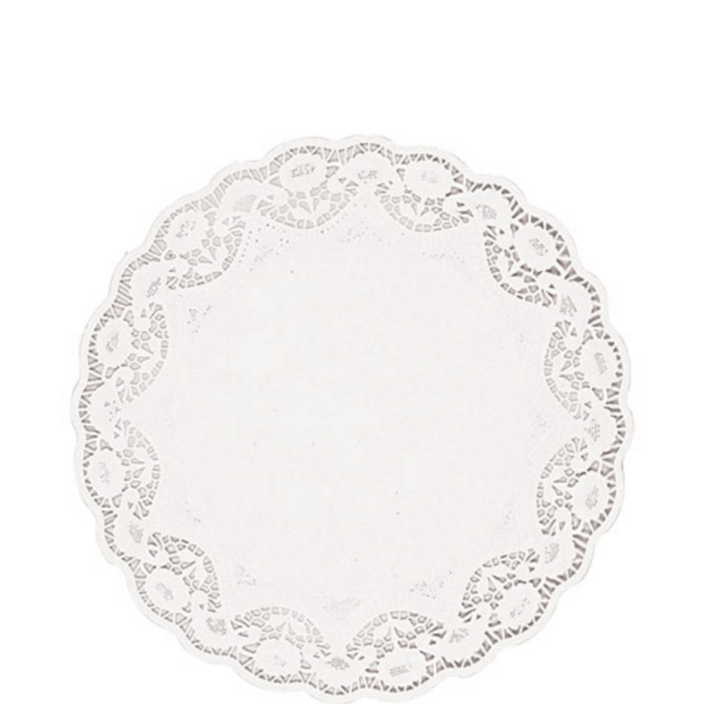 White Round Paper Doilies 12ct Image #1
