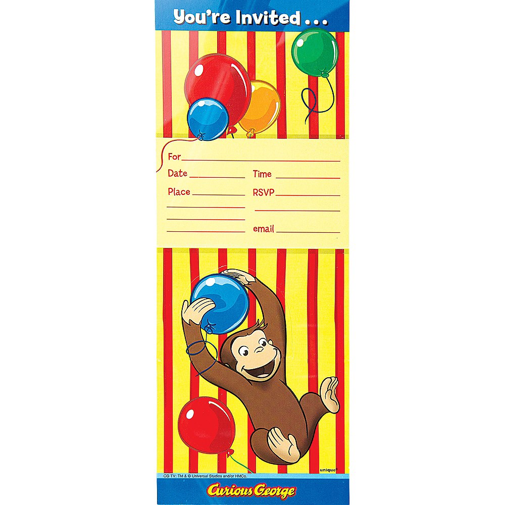 Curious George Invitations 8ct Image #2