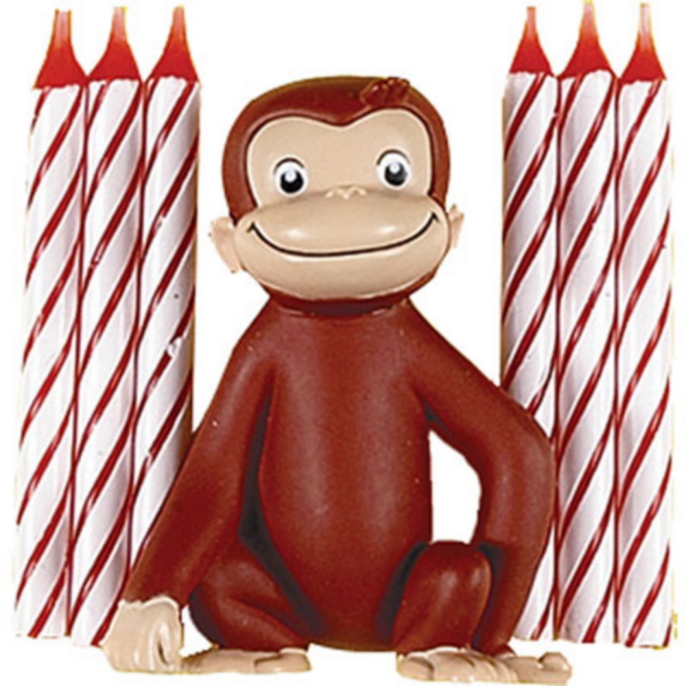 Curious George Cake Decoration & Candles 7ct Image #1